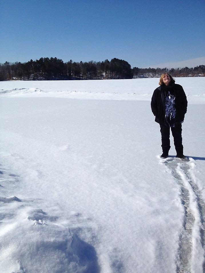 Kim Kyle Christian speaker in snow