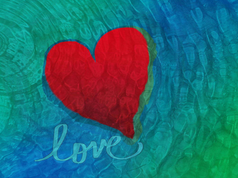 heart with the word love