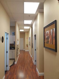 Clinic hallway