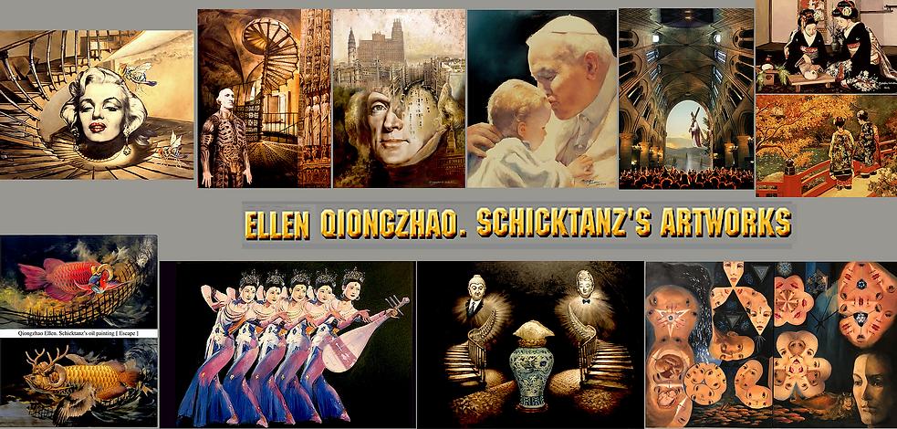 Ellen's artworks at Federal Hall Art Exh