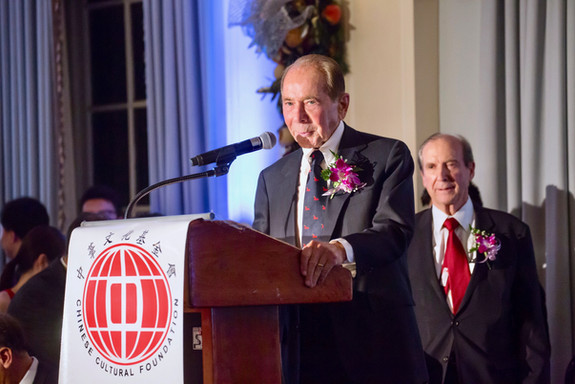 Maurice R. Greenberg, Chairman & CEO of C.V. Starr & Co., at the Chinese Cultural Foundation's 15th Anniversary Gala Dinner Celebration.