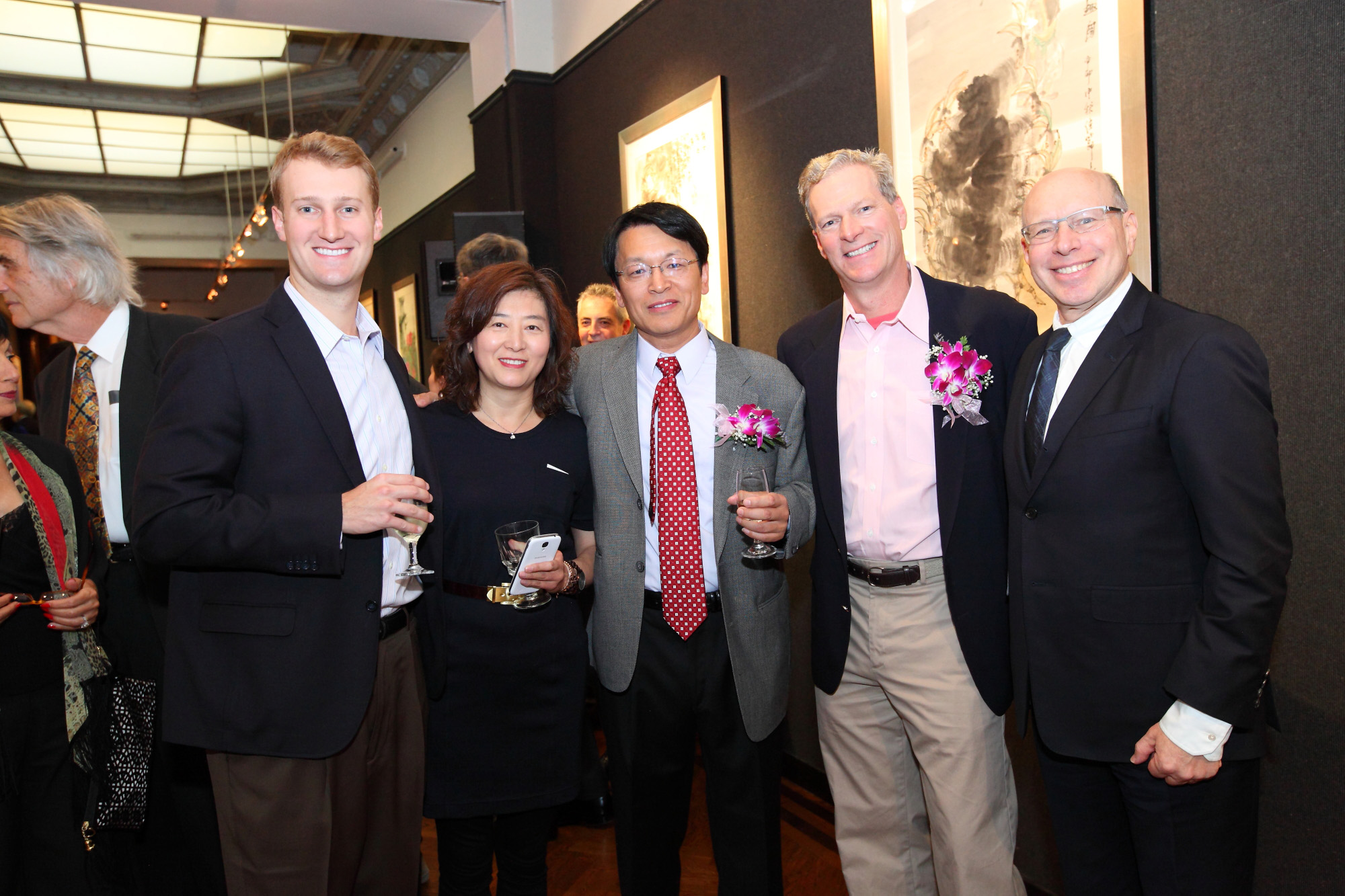 Xinle Ma with Steven Rockefeller at Nati
