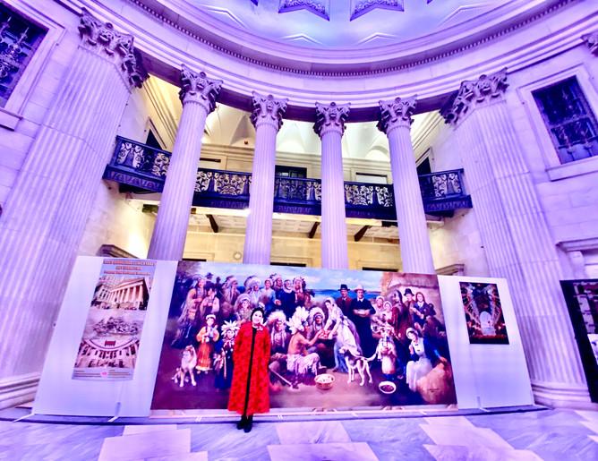 Ellen at her Federal Hall Art Exhibition