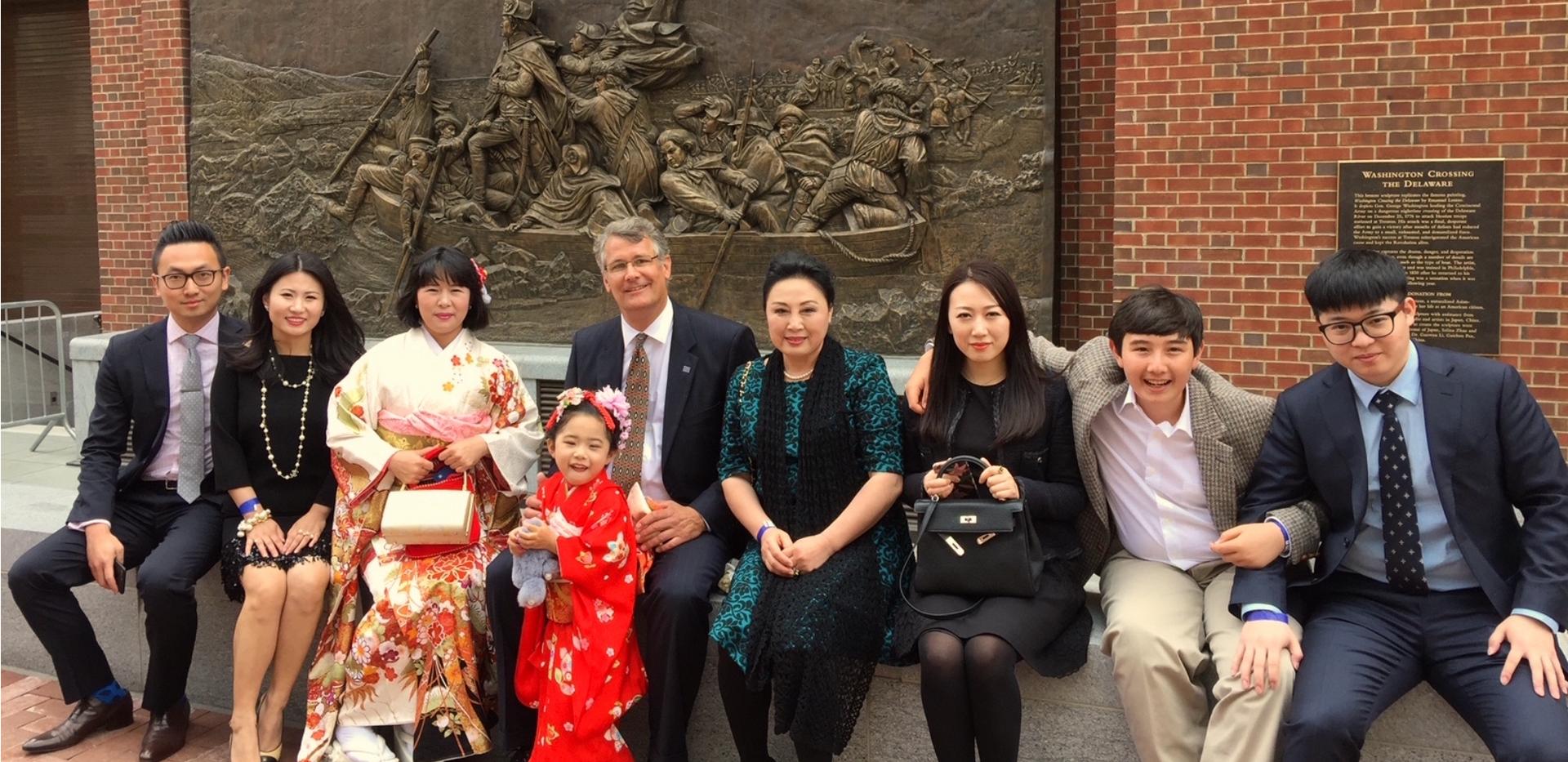 Ellen Qiongzhao Schicktanz and family