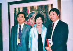 Zhiyuan Cong, Ambassador Zhang Yishan, Yue-Sai Kan at UN