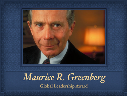 The Maurice R. Greenberg Global Leadership Award