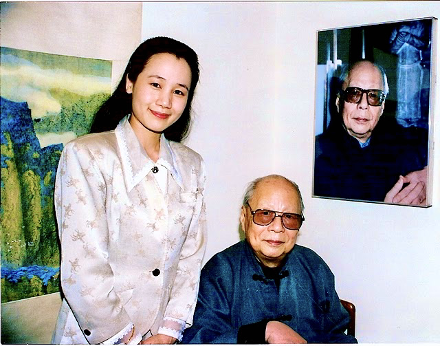 C.C. Wang and Elizabeth at Gallery, 1995