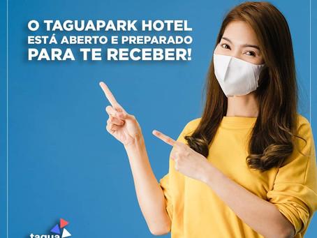 O TaguaPark Hotel segue garantindo todos os cuidados necessários para a prevenção da COVID-19.