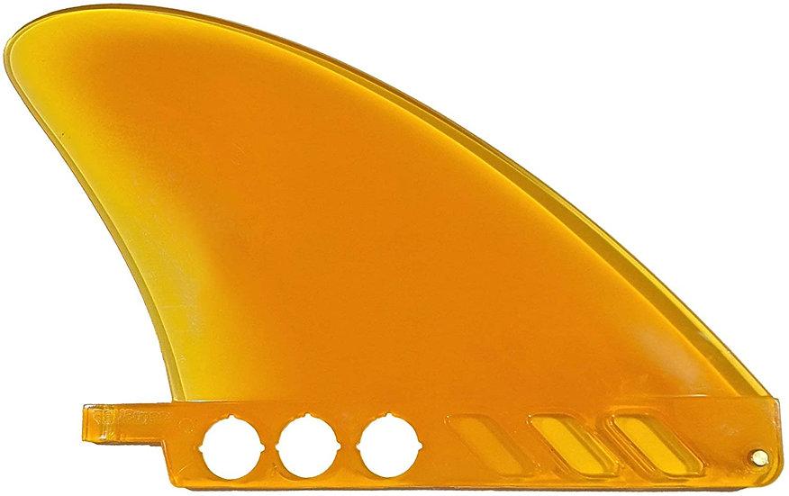 "4.6"" US Box Center fin flex fin for Surf & Rivers Yellow"