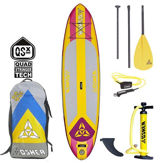 O'Shea 10'2 QSx Pink Inflatable SUP 2021 Pink/Yellow