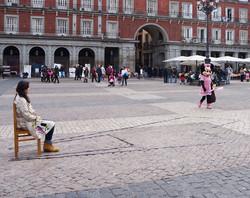 En la plaza pública