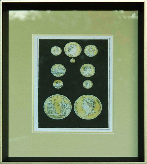 Cuadro Lamina Monedas Antiguas