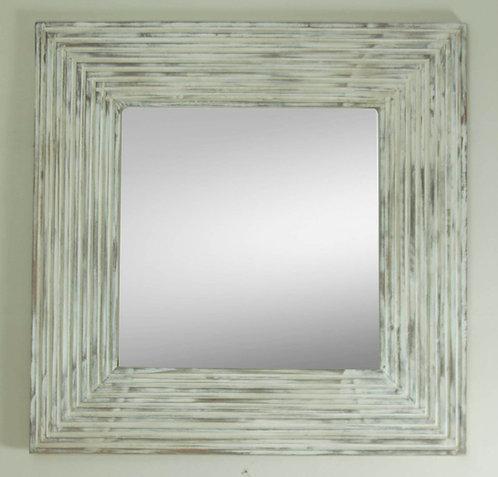 Espejo Rallas Blanco 90x90
