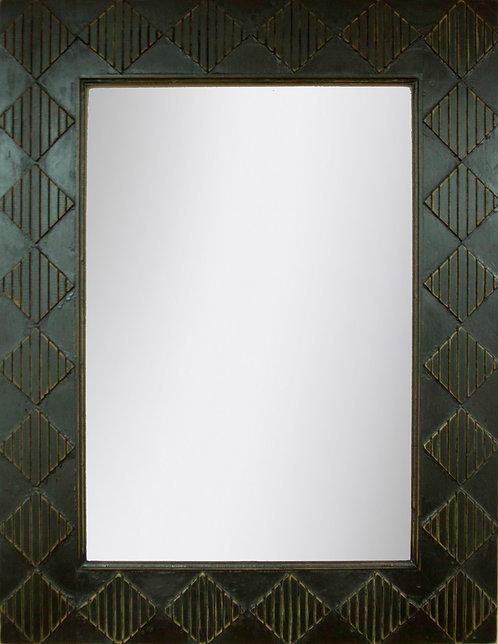 Espejo Rombos Negro Decapado 120x90