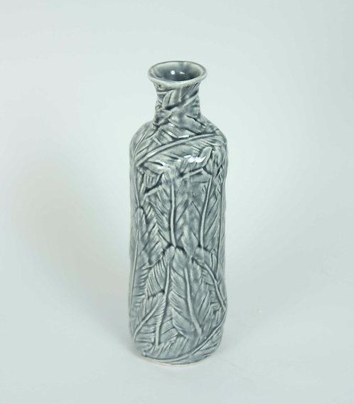 Florero Ceramica Hojas 26x10