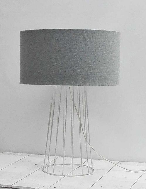 Lampara de Sobre Mesa Tate Gris 60x45cms