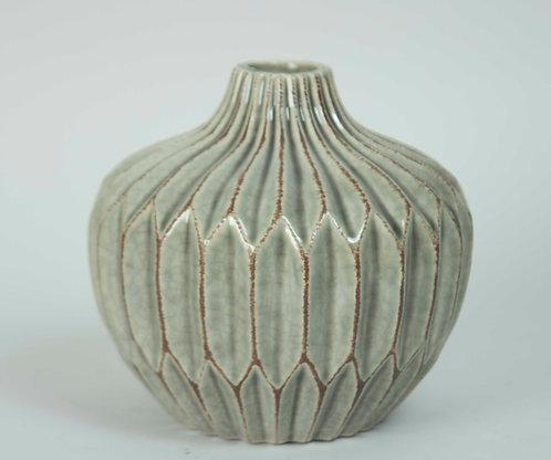 Florero Ceramica Acordeón Bajo 15x14