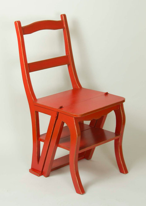 Silla Escalera Roja 89x44x38