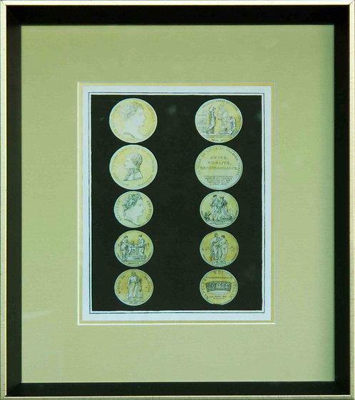 Cuadro Lamina Monedas Antiguas IV