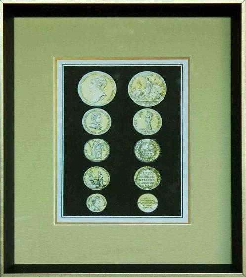 Cuadro Lamina Monedas Antiguas III