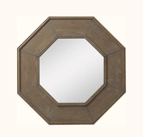 Espejo Octogonal Madera 90x90