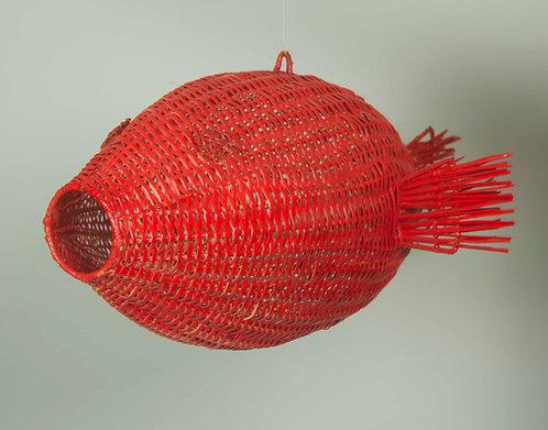 Pescado Mimbre Grande Rojo 70ancho x 35alto