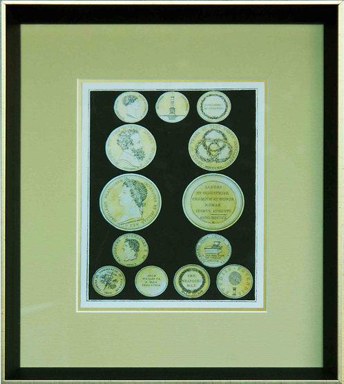 Cuadro Lamina Monedas Antiguas II