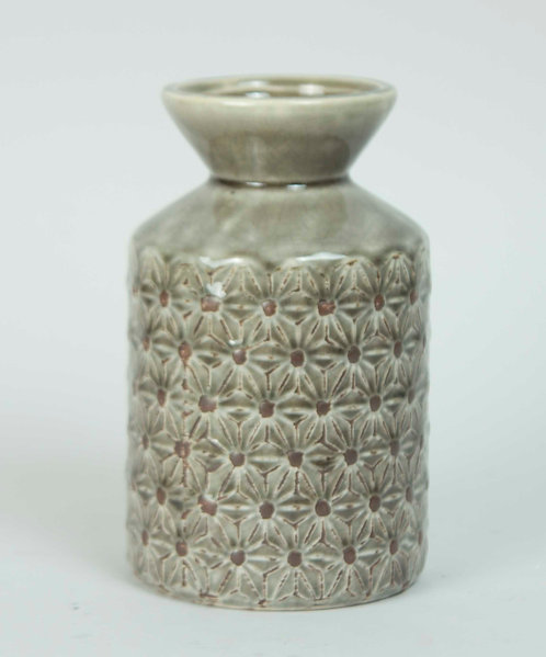 Florero Ceramica Telar 16x13