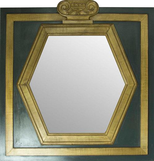 Espejo Corona dorado 92x90