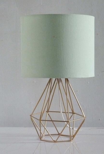 Lampara Triangulos c/pantalla Verde 38x20