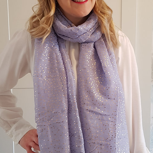 Rose Gold Tiny Dots Scarf - Lilac