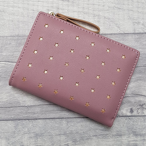 Sadie Gold Star Small Purse - Pink