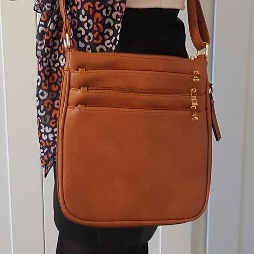 Sienna Everyday Cross Body Bag - Brown