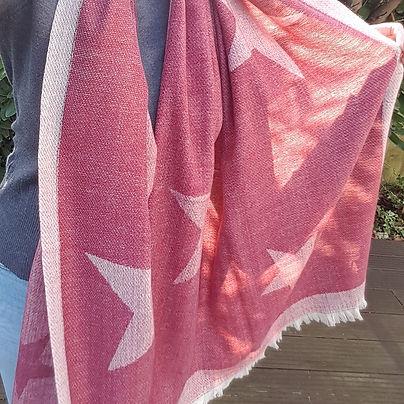 red large star print border blanket scarf 4 (2).jpg