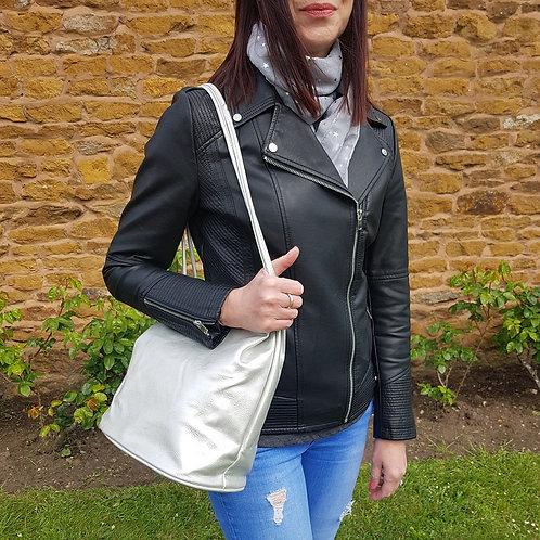 Jessica Shoulder Bag - Silver