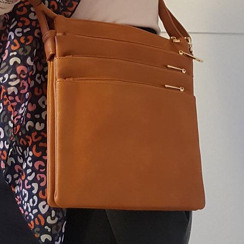 Rebecca Everyday Cross Body Bag - Brown