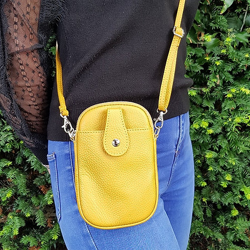 Ruby Leather Mobile Phone Purse - Yellow