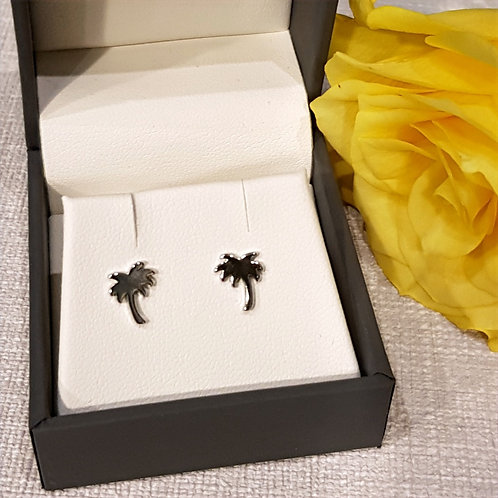 Sterling Silver Palm Tree Earrings
