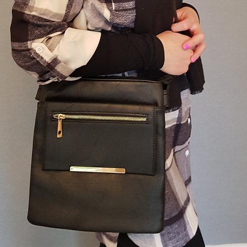 Lydia Everyday Cross Body Bag - Black