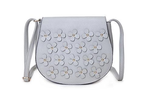 Flower Power Cross Body Bag - Grey