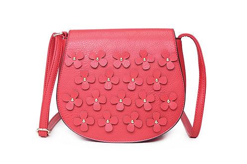 Flower Power Cross Body Bag - Bright Red