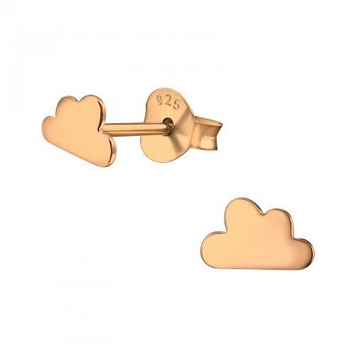 Rose Gold Mini Cloud Earrings