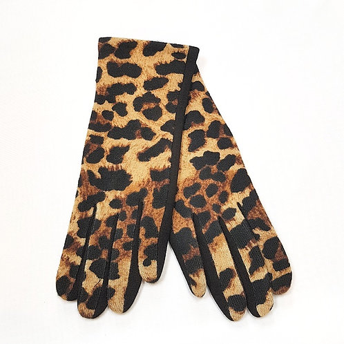 Animal Print Gloves - Brown/Black