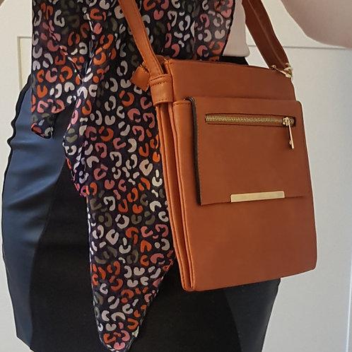 Lydia Everyday Cross Body Bag - Brown