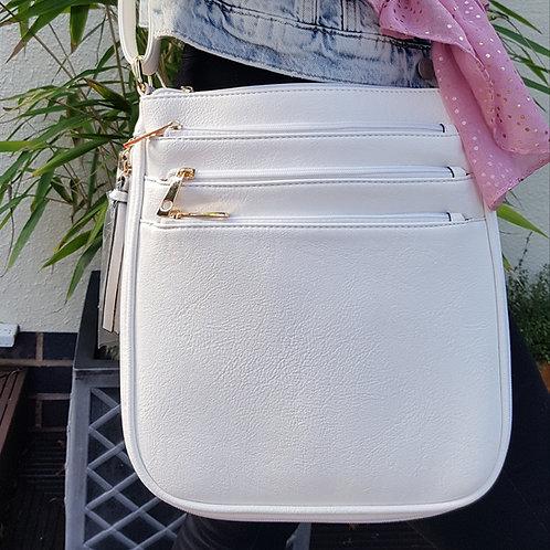 Sienna Everyday Cross Body Bag -White