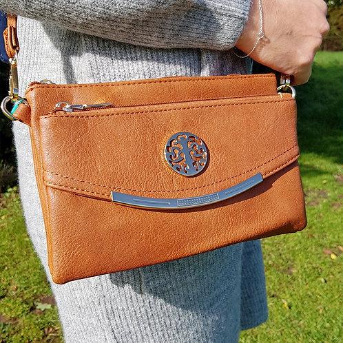Amelia Multi Wear Cross Body Bag - Brown