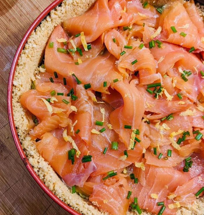 Cheescake di salmone