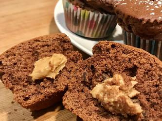 Muffin al burro d'arachidi e cioccolato