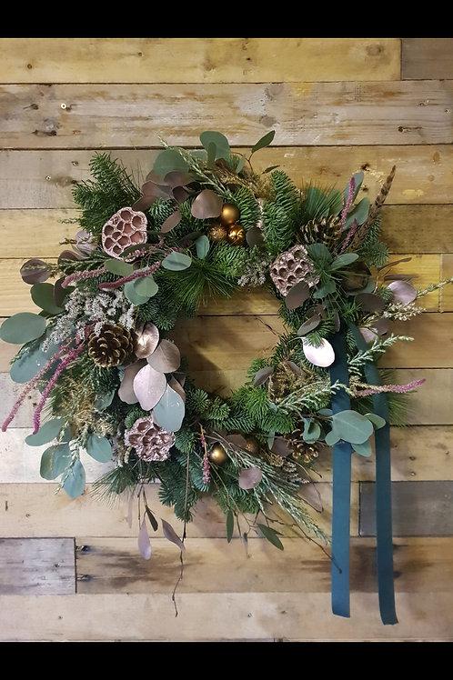 Rose Gold Christmas Wreath