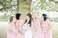 bridal party at minstrel court hertfordshire